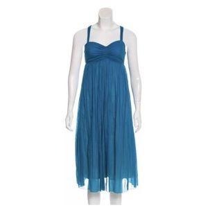 Jean Paul Gaultier Soleil Midi Turquoise Dress Sm